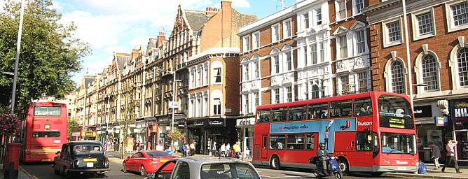 how to get to kensington high street