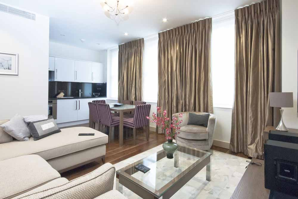 Deluxe Two Bedroom Apartment - Living Area