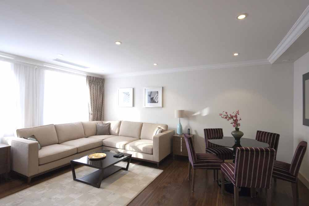 Executive Two Bedroom Apartment - Living and Dining Area