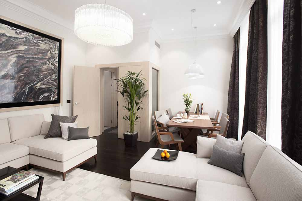 Three Bedroom Knightsbridge Penthouse Suite - Living and Dining Area