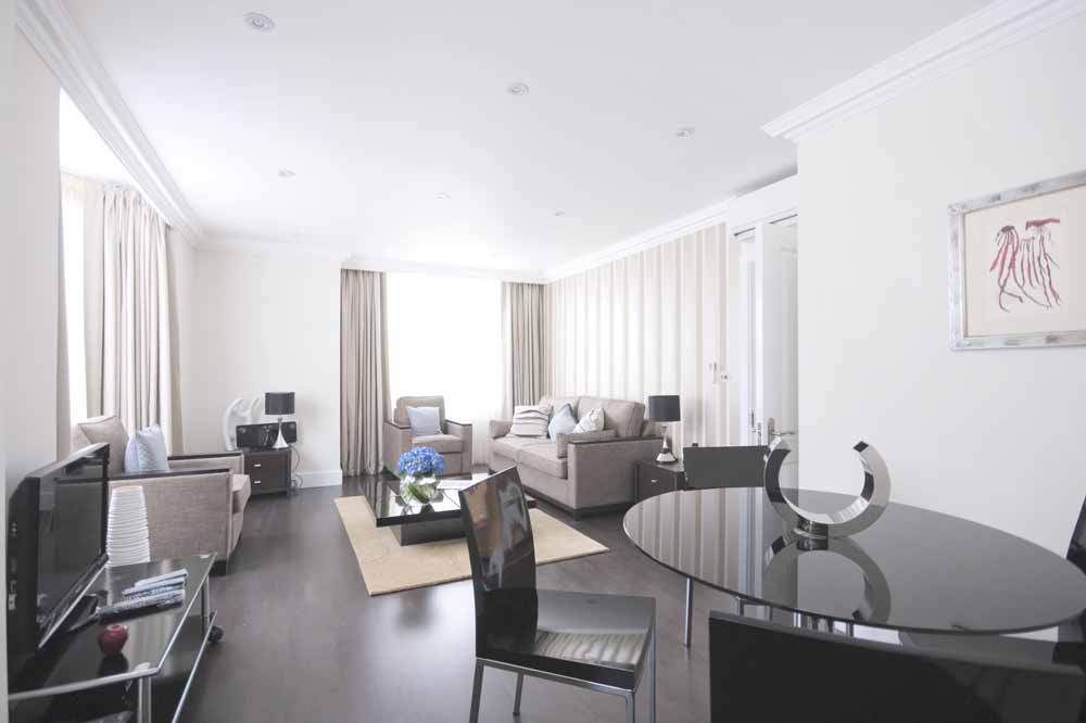 Standard Two Bedroom Apartment - Dining and Living Area