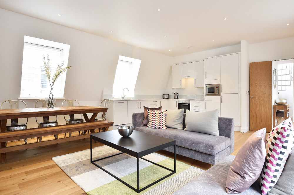 Three Bedroom Penthouse Apartment - Living and Dining Area