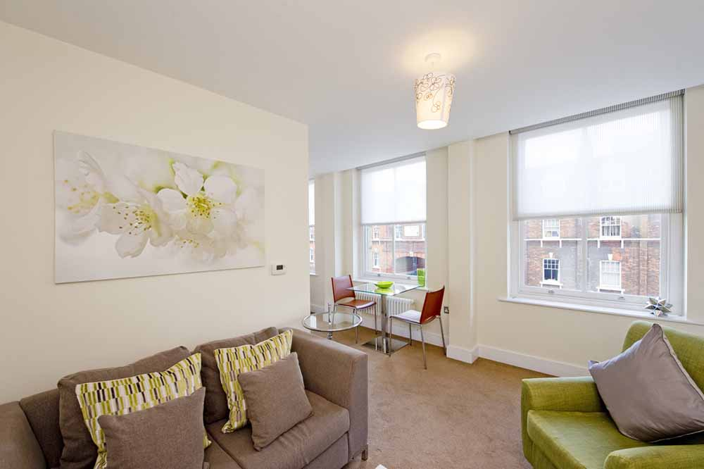 Premium One Bedroom Apartment (Commercial St) - Living Area