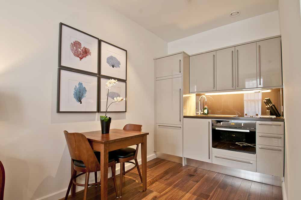Premium Studio Apartment - Kitchen and Dining Area