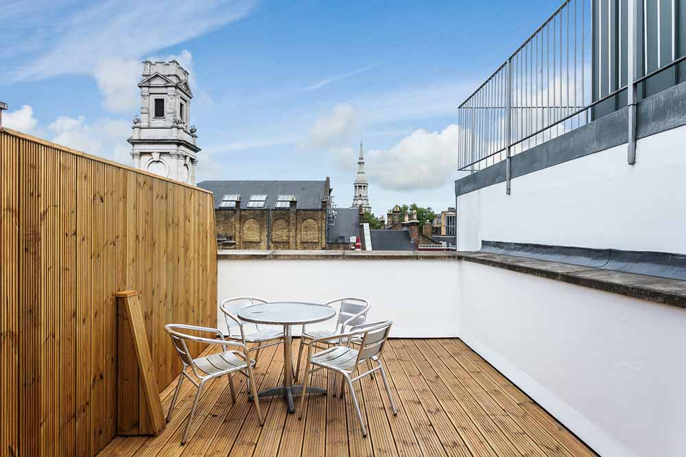 Curtain Road Apartments - Terrace