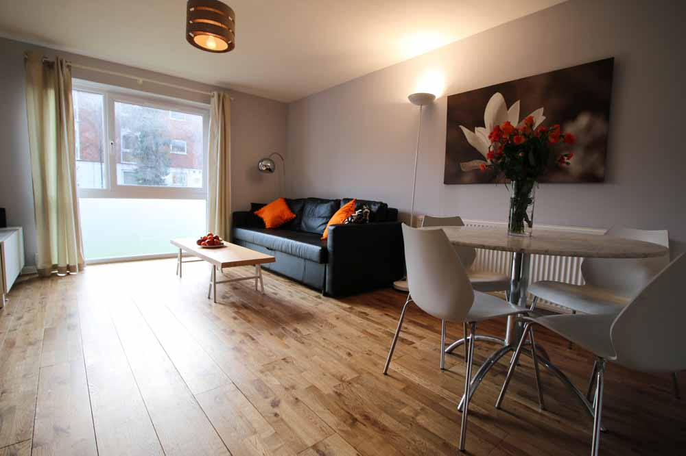Two Bedroom Apartment - Living and Dining Area