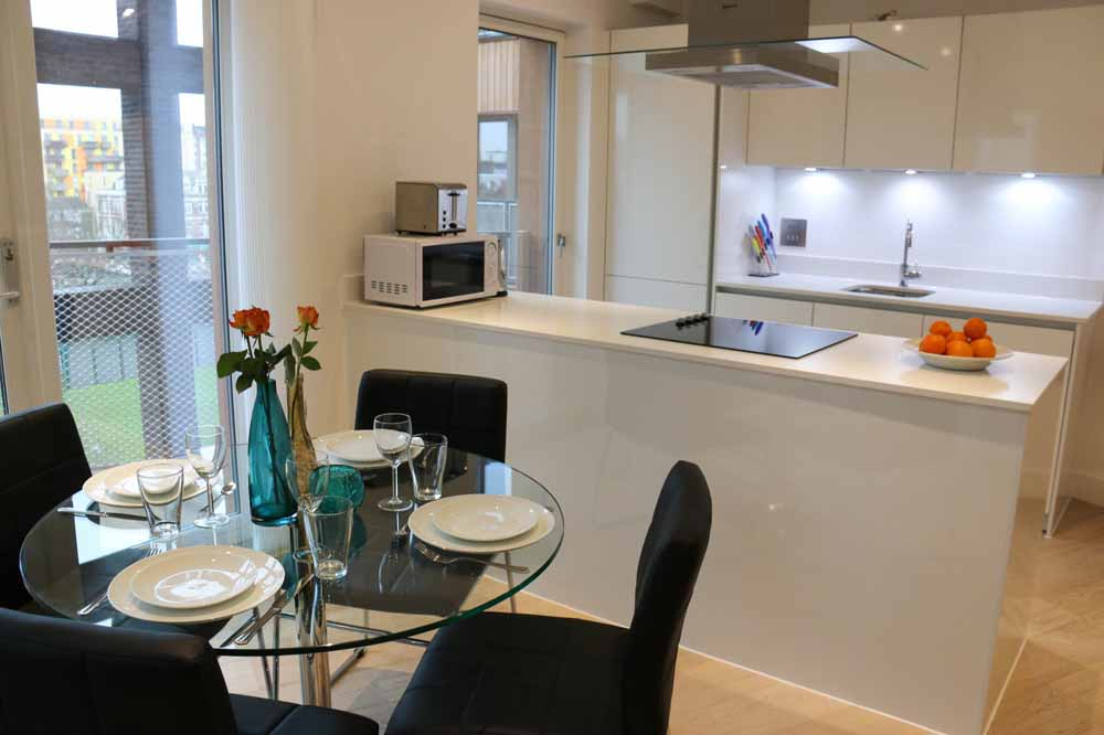 Executive Two Bedroom Apartment - Kitchen and Living Area
