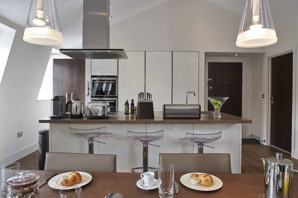 Three Bedroom Penthouse Apartment - Kitchen and Dining Area