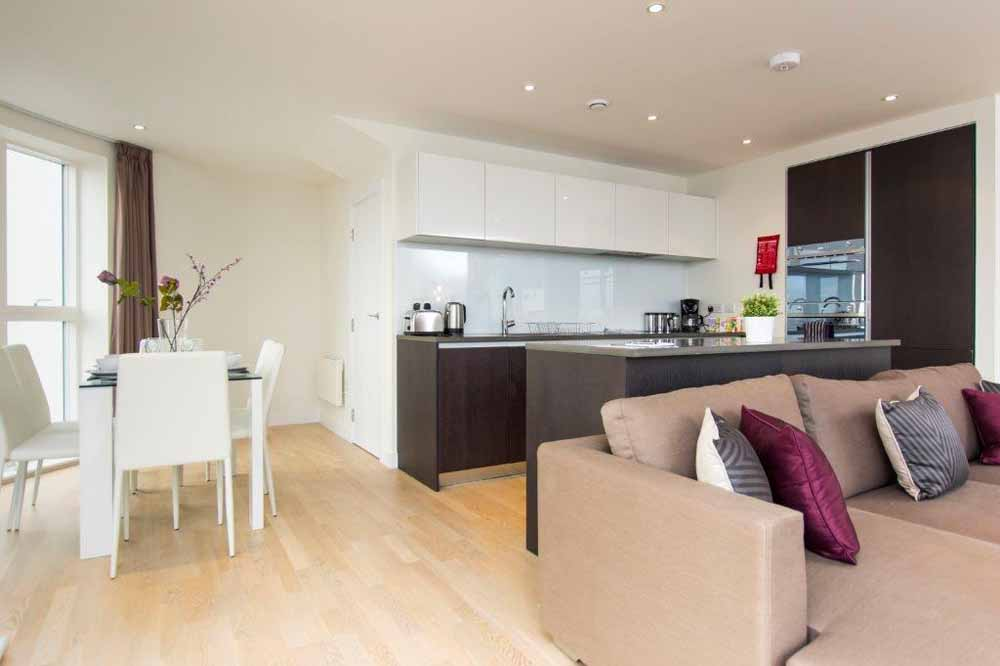 Three Bedroom Apartment - Kitchen and Dining Area