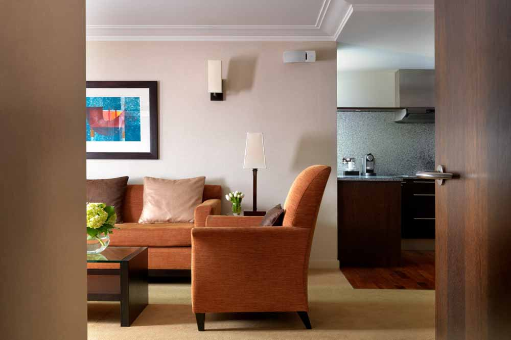 Luxury One Bedroom Apartment - Living Room