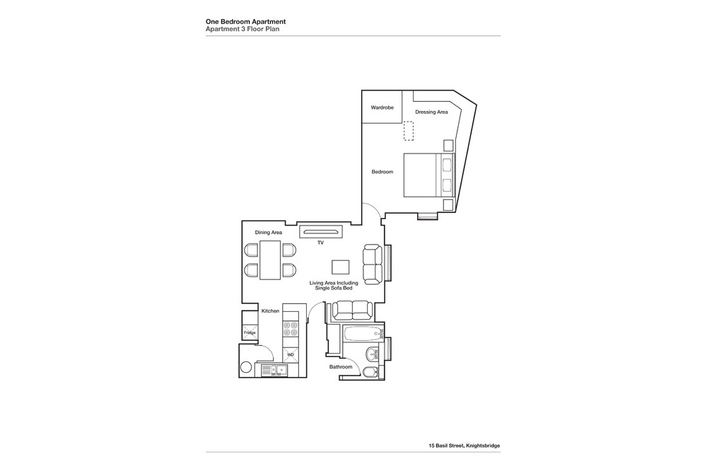One Bedroom Apartment - Floor Plan