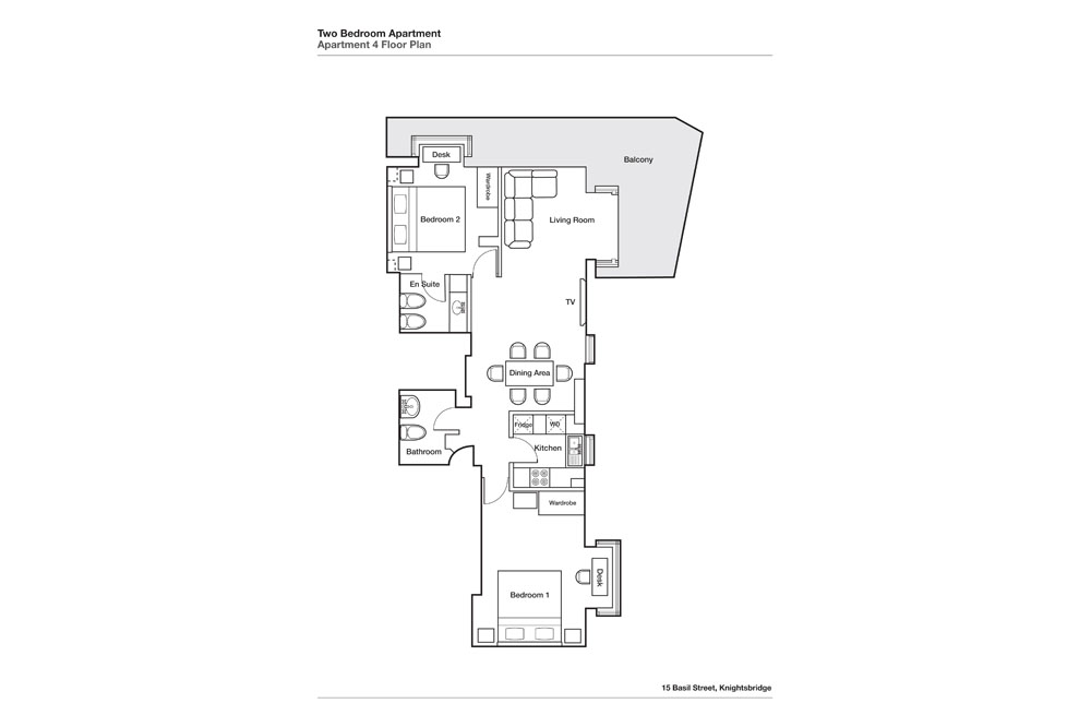 Two Bedroom Apartment - Floor Plan
