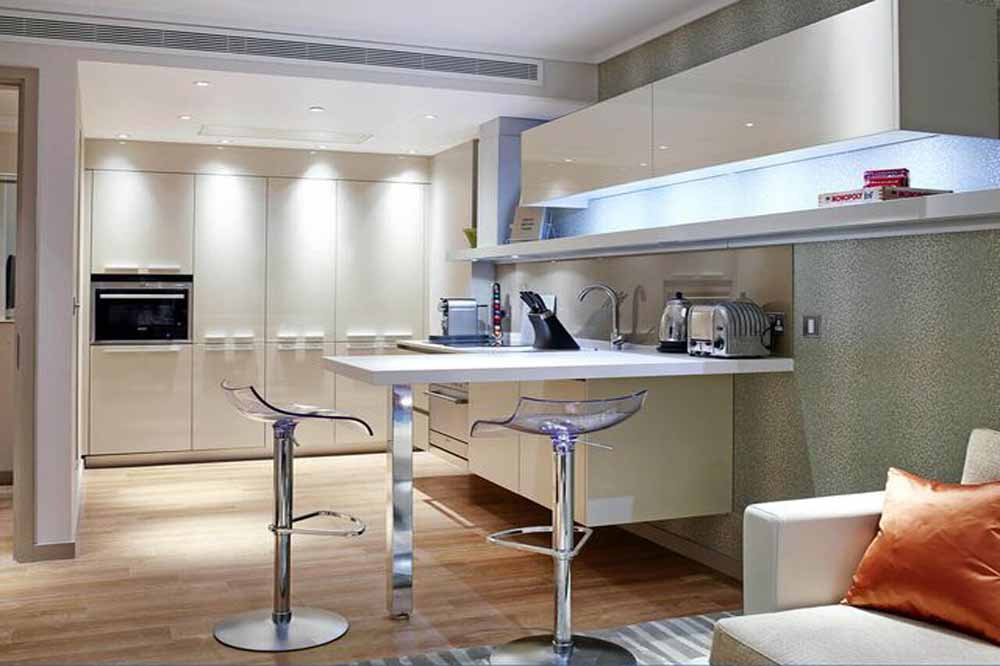 Superior One Bedroom Apartment with Urban View - Kitchen