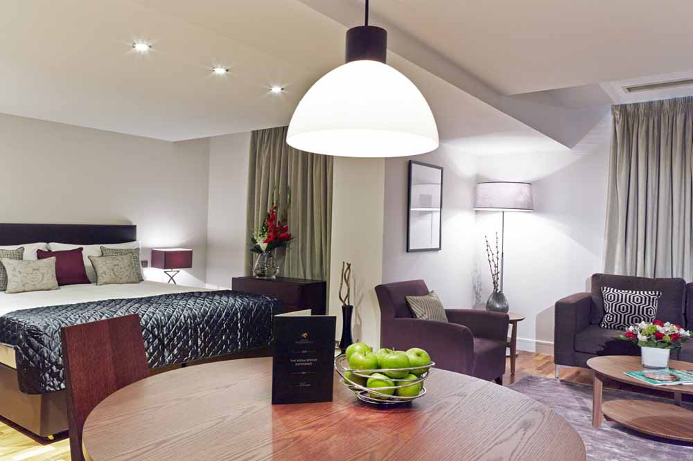 One Bedroom Open Plan Apartment - Dining and Living Room