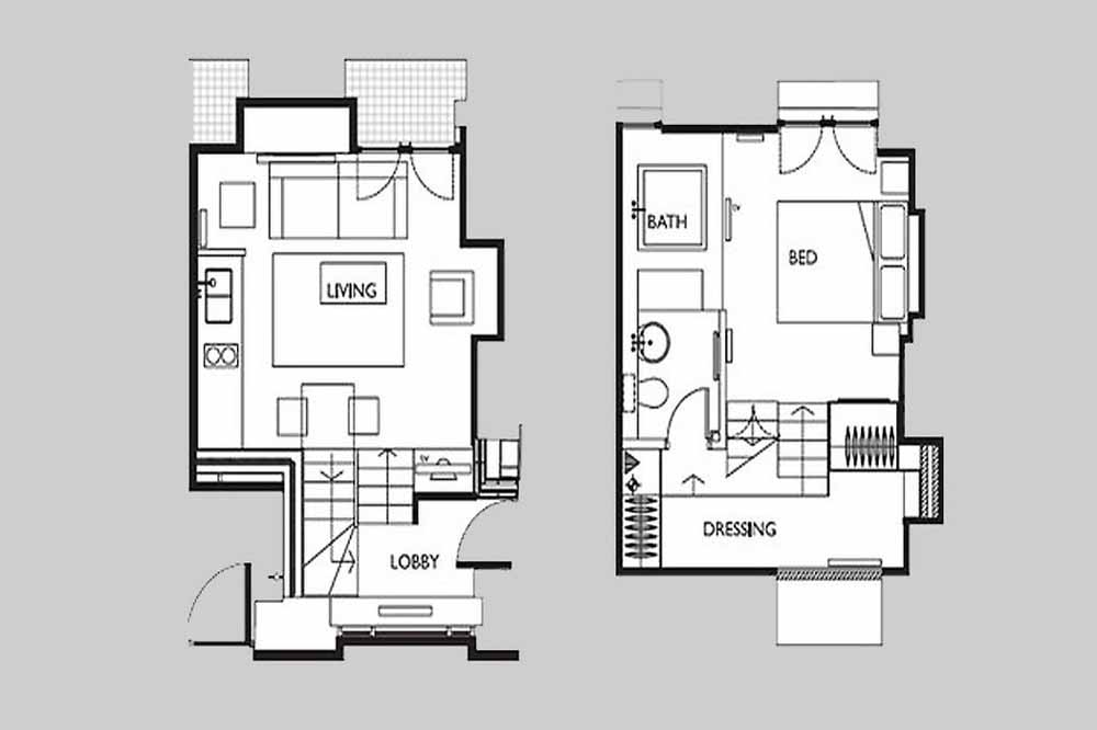 Deluxe One Bedroom Apartment - Floor Plan