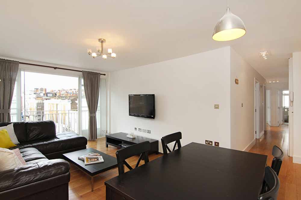 Three Bedroom Apartment - Living and Dining Area
