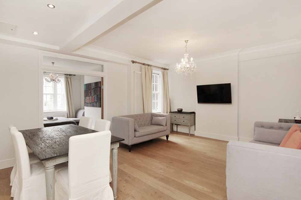Classic Three Bedroom Apartment - Living and Dining Area