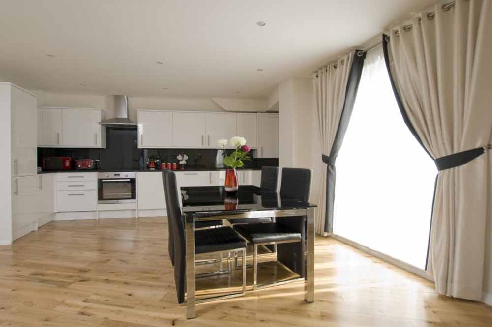 Executive Two Bedroom Apartment - Kitchen and Dining Area