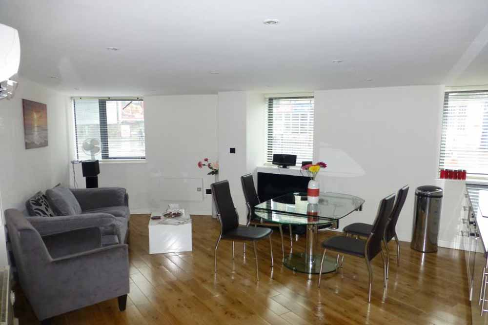 Luxury Two Bedroom Apartment - Living and Dining Area