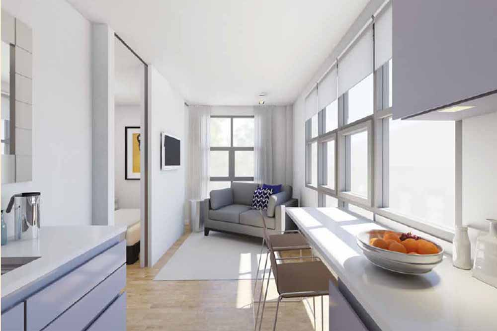 Manhattan One Bedroom Apartment - Living Area