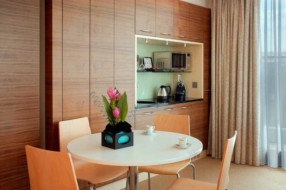 One Bedroom Penthouse Apartment - Kitchenette and Dining Area
