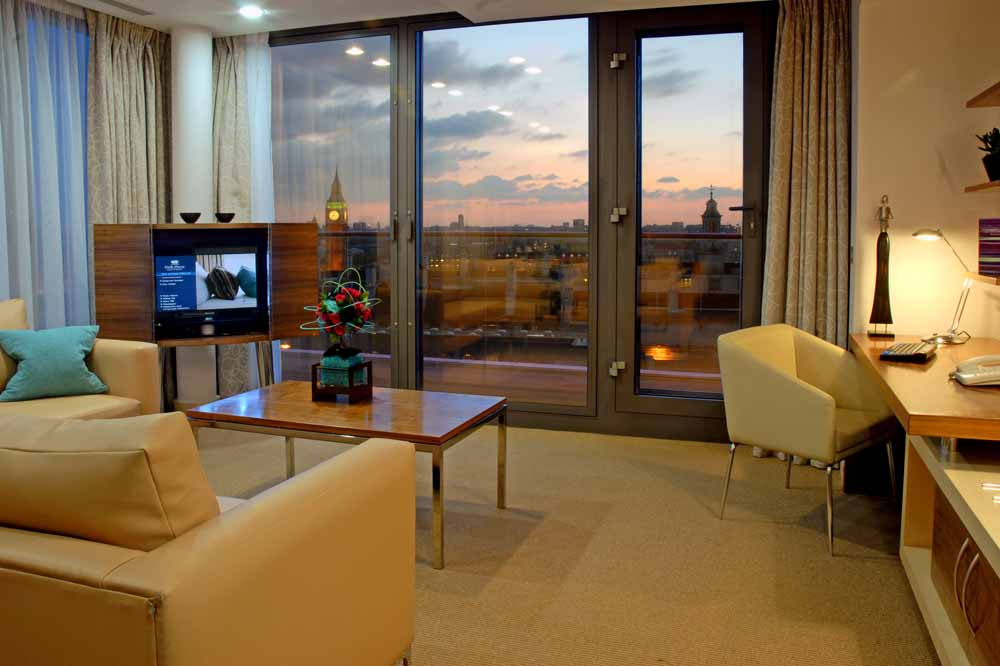 One Bedroom Penthouse Apartment - Living Area