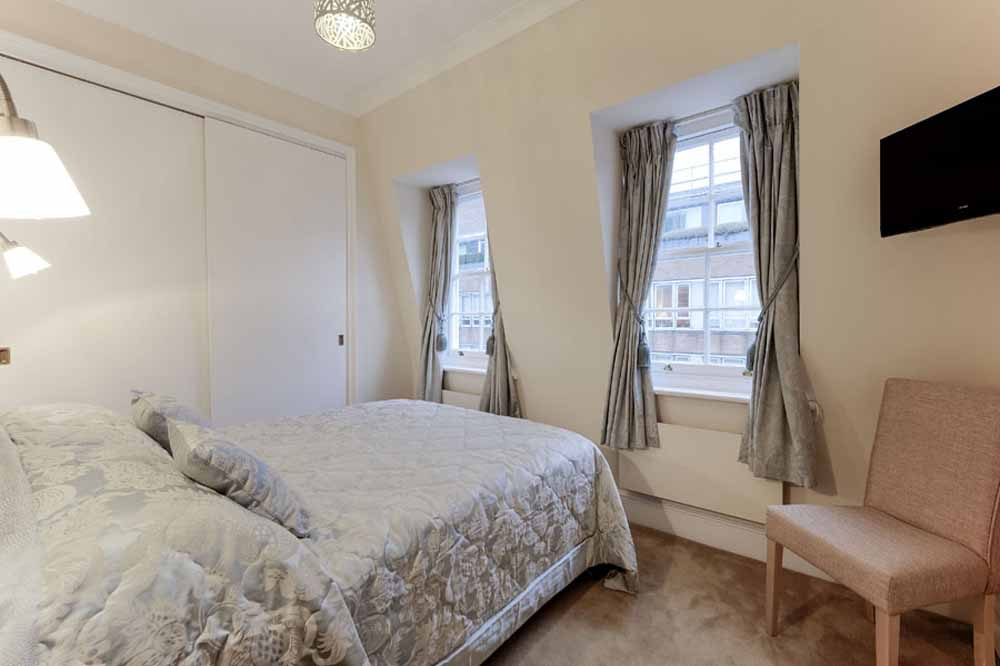 Small Two Bedroom Apartment - Bedroom