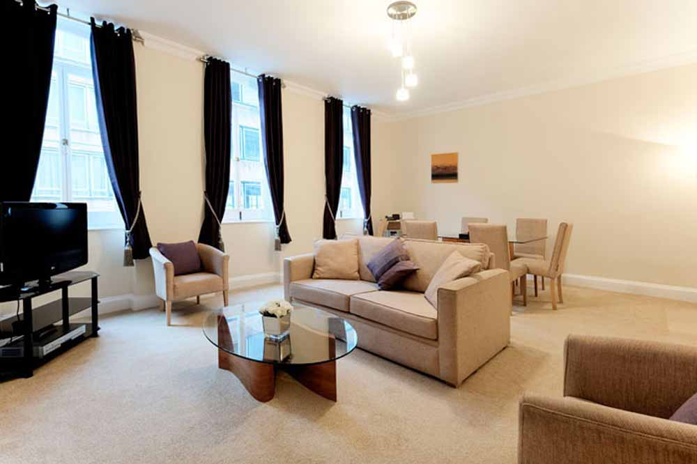 Standard Two Bedroom Apartment - Living Area