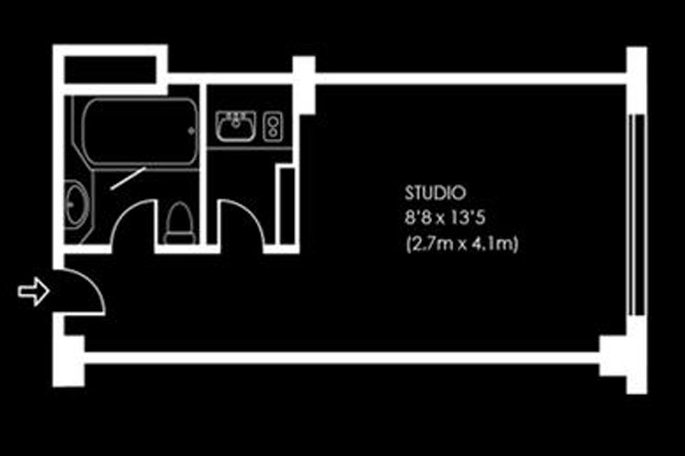Standard Studio Apartment - Floor Plan