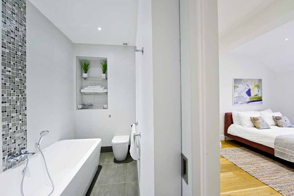 Three Bedroom Apartment - Bedroom and En-suite Bathroom