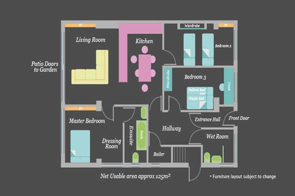 Three Bedroom Apartment - Floor Plan