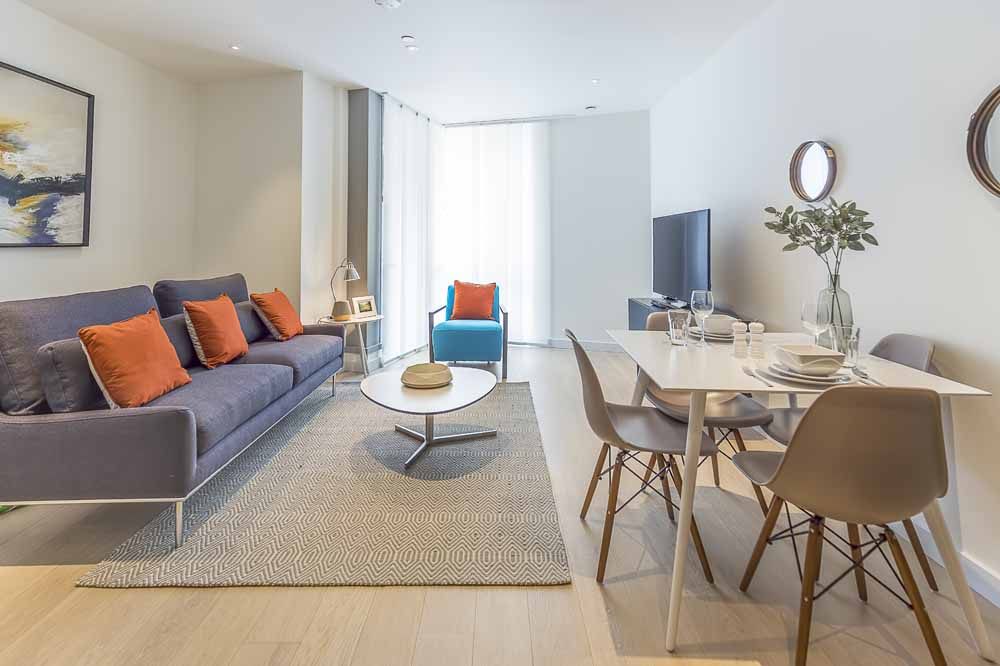 Charrington Tower Apartments - Living and Dining Area