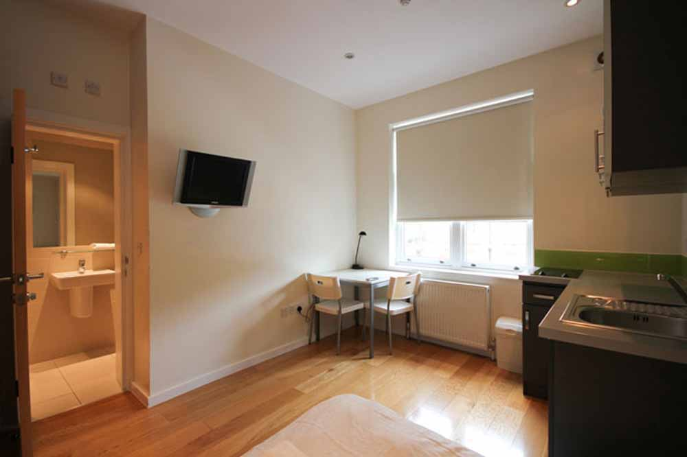 Double Studio Apartment - Kitchenette and Living Area