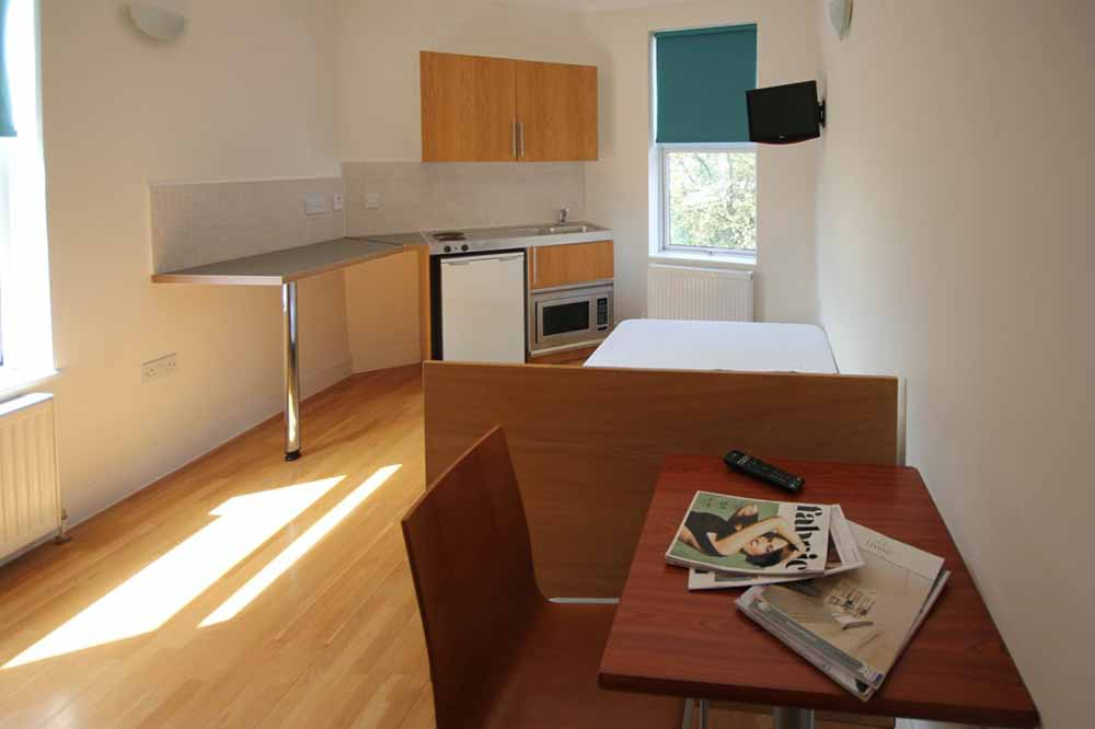 Studio Apartment - Kitchenette and Living Area