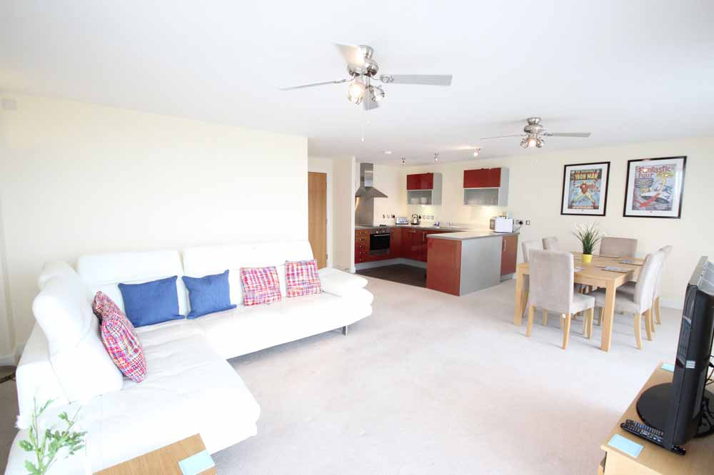 Three Bedroom Deluxe Apartment - Living Area
