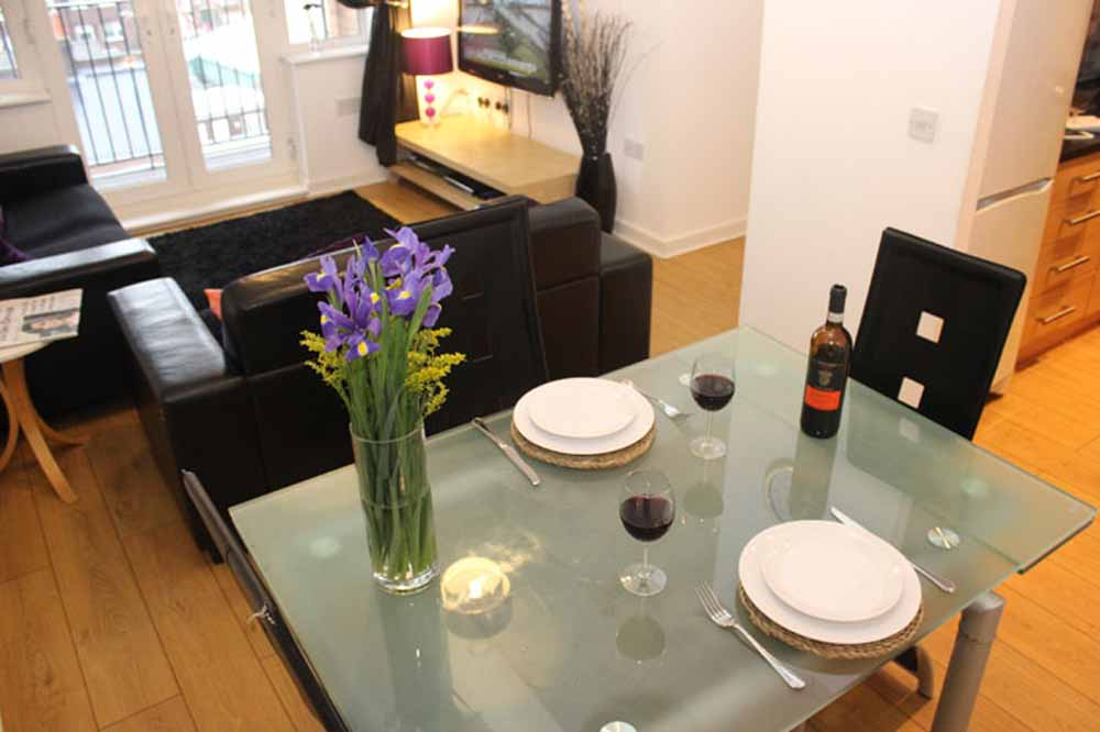 Two Bedroom One Bathroom Apartment - Living and Dining Area