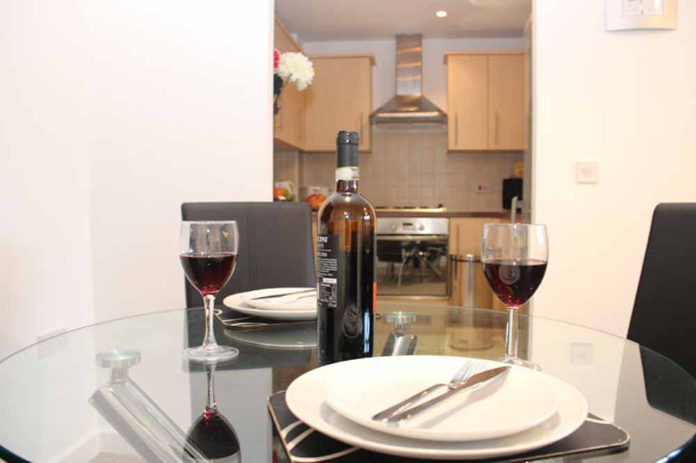 Two Bedroom Two Bathroom Apartment - Dining Area