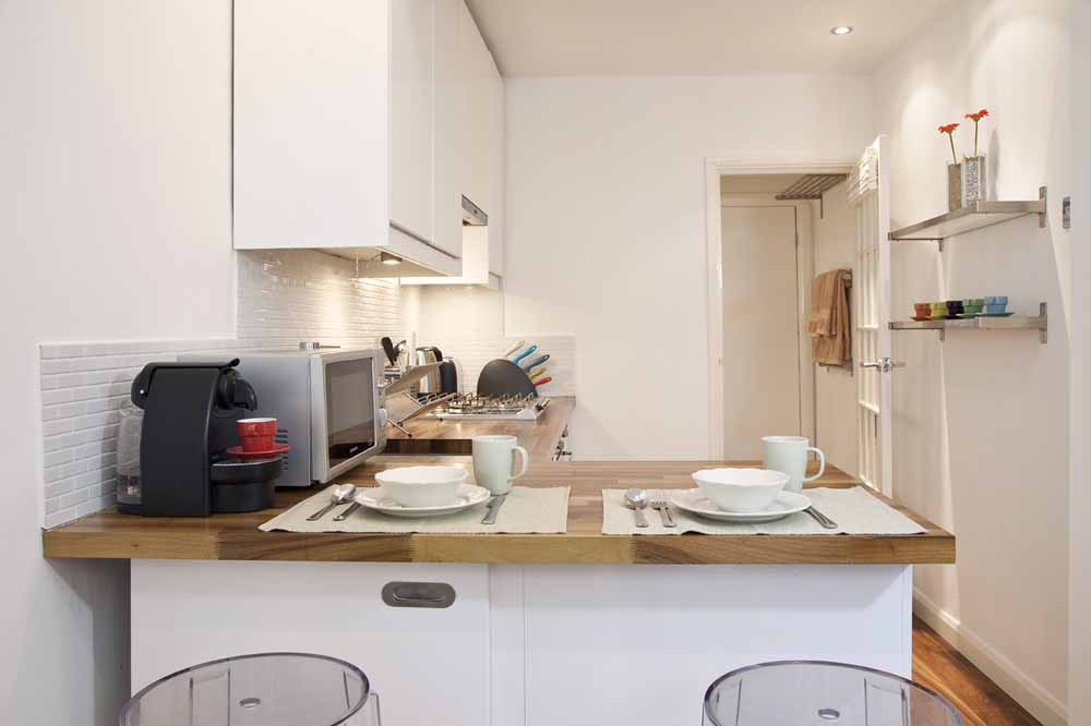One Bedroom Apartment - A - Kitchen and Dining Area