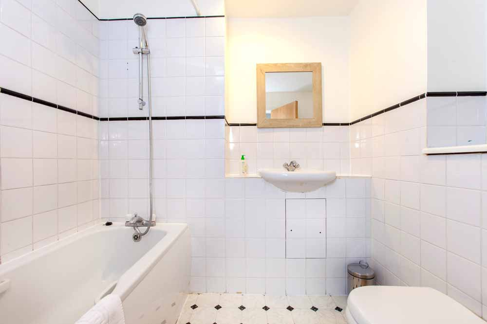 Two Bedroom One Bathroom Apartment - Bathroom