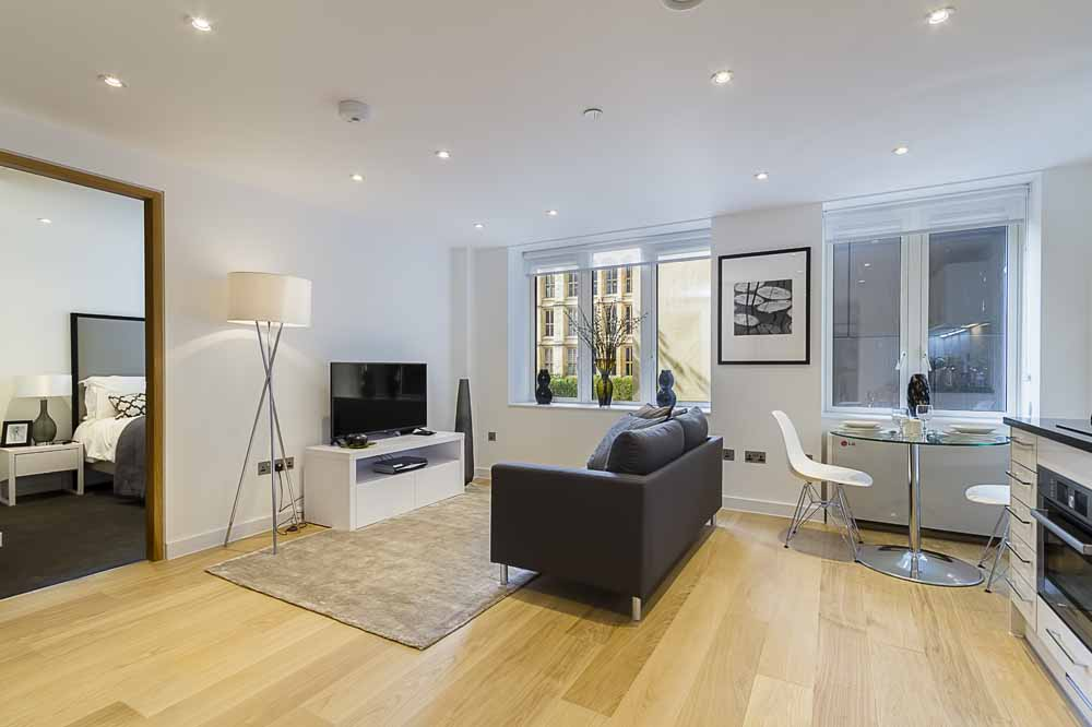 Fetter Lane Apartments - Living and Dining Area