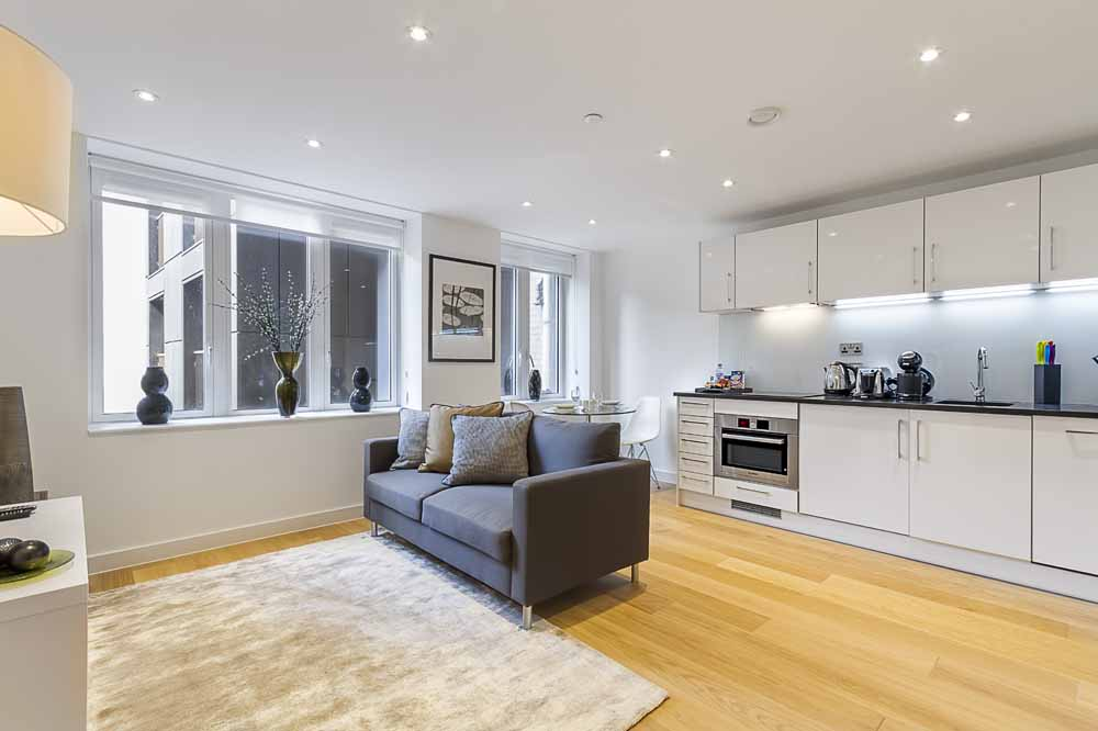 Fetter Lane Apartments - Kitchen and Living Area