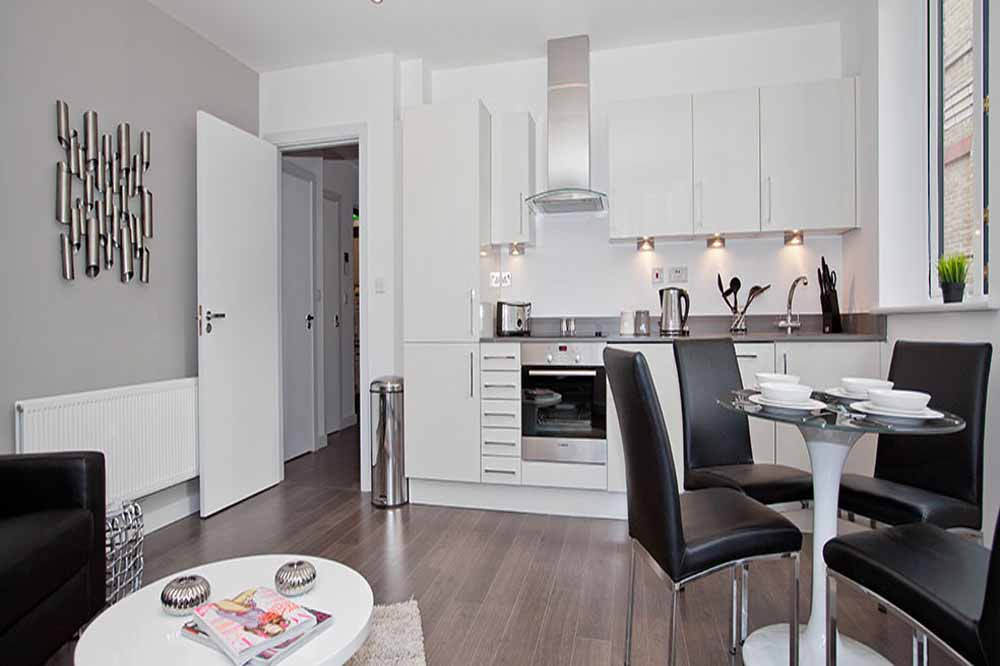 Whites Row Apartments - Kitchen and Dining Area