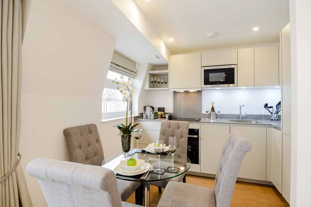 Two Bedroom Penthouse Apartment - Kitchen and Dining Area