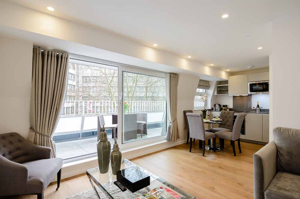Two Bedroom Penthouse Apartment - Living and Dining Area