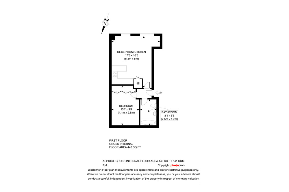 Premium One Bedroom Apartment - Floor Plan
