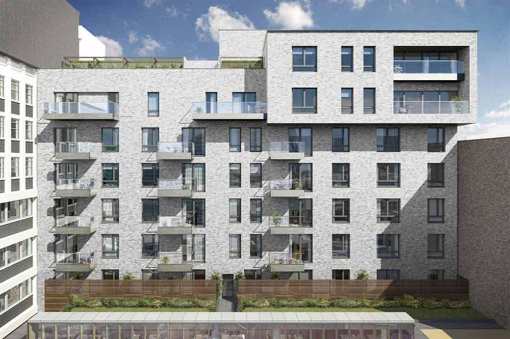 London Square Apartments - Courtyard Facade
