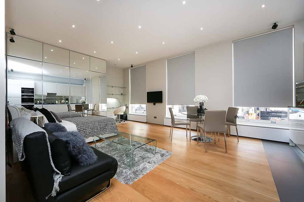 Open Plan One Bedroom Apartment - Living Area
