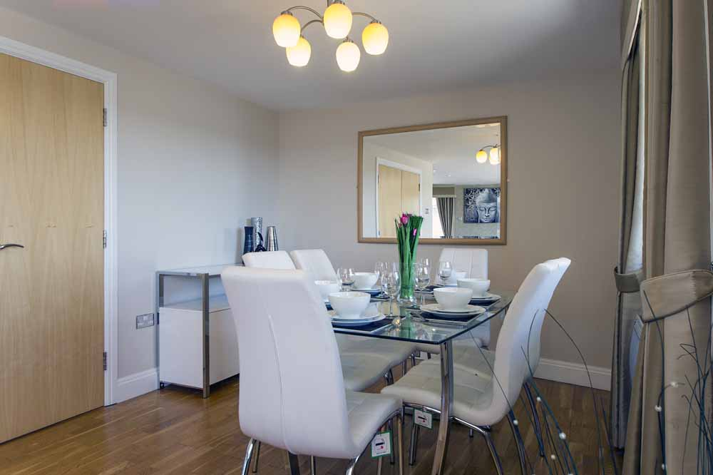 Three Bedroom Two Bathroom Apartment - Dining Area