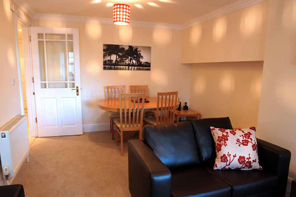 One Bedroom Apartment - Living and Dining Area