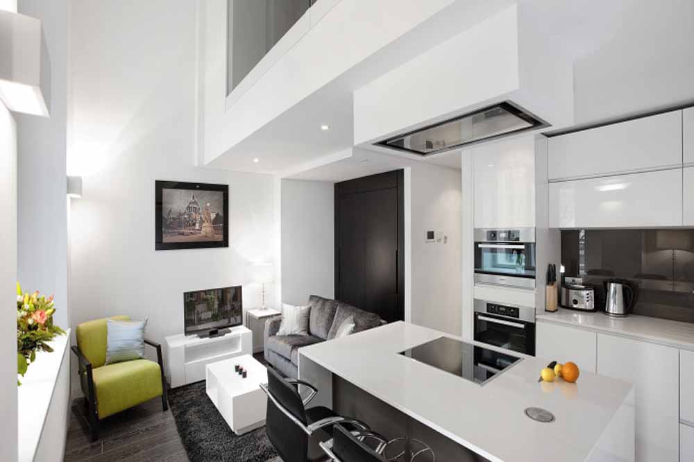 Marconi House Apartments - Kitchen and Living Area